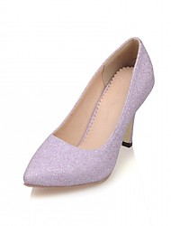 Damen-High Heels-Büro Lässig Kleid-Kunstleder-StöckelabsatzGold Silber Rosa