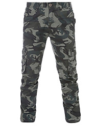 Men's Camouflage Beige / Black Chinos PantsSimple Spring / Fal hot sale brand fashion