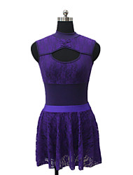 Jazz Dresses Women's / Children's Performance Cotton / Lace / Lycra Lace 1 Piece Sleeveless Dress