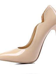 Feminino-Saltos-Sapatos com Bolsa Combinando-Salto Agulha-Preto / Amarelo / Rosa / Vermelho / Branco / Amêndoa-Courino-Escritório &