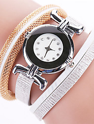 Women's Fashion Watch Bracelet Watch Quartz PU Band Vintage Casual Black White Blue Red Brown Gold Pink Navy Ivory