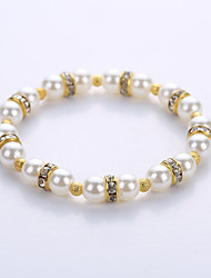 Bracelet Strand Bracelet Alloy Imitation Pearl Halloween Birthday Congratulations Gift Party Casual Jewelry Gift White,1pc