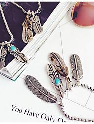 Modische Halsketten Smaragd Halsketten Schmuck Party / Alltag Anhänger Stil / Euramerican Aleación Damen 1 Stück Geschenk Silber