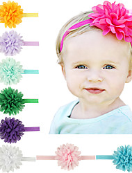 11Pcs/set Baby Girls Chiffon Flower Headband Todder Hair Accessories Infant Hairband