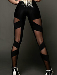 Women Cross - spliced Legging,Polyester