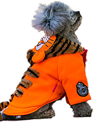 Dog Sweater Orange / Green Dog Clothes Winter / Spring/Fall Animal Cute / Casual/Daily / Keep Warm