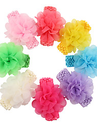 8Pcs/set Baby Girls Chiffon Flower Headband Todder Hair Accessories Infant Hairband