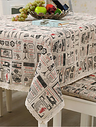 Square Patterned / Patchwork Table Cloth  Linen / Cotton Blend Material Hotel Dining Table / Table Decoration Random Color