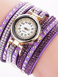 Xu™ Women's Fashion Watch Wrist watch Quartz PU Band Vintage Casual Black White Blue Red Brown Pink Purple Navy Ivory
