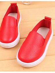 Girl's Loafers & Slip-Ons Comfort Leatherette Casual Black Red White