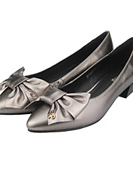 Women's Heels Fall / Winter Ballerina Nappa Leather Office & Career / Casual Low Heel Black
