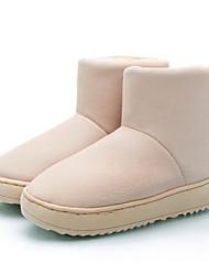 Women's Boots Winter Comfort Fleece Office & Career / Athletic / Casual Low Heel Slip-on Black / Gray / Beige Walking / Hiking / Others