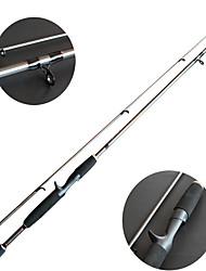 Спиннинговое удилище / Удочка Складная удочка Углерод 2.1 M Морское рыболовство / Обычная рыбалка Стержень Черный-OEM