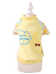 Hunde Pullover Pyjamas Gelb Rosa Hundekleidung Winter Frühling/Herbst Karton Niedlich Lässig/Alltäglich