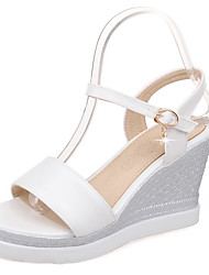 Women's Sandals Summer / Fall Wedges / Slingback / Sandals / Round Toe /  Casual Wedge Heel Crystal / Buckle