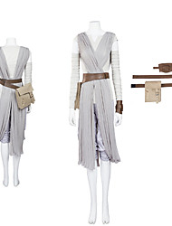 Cosplay Costumes /  Star Battle Rey Cosplay Costume The Force Awakens Cosplay Costume Adult Women Halloween Costume