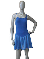 Cotton/Lycra Chiffon Dress Ballet Dance Leotard Skirts Training Performance Costume More Colors for Girls and Ladies
