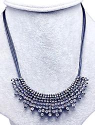 Women's Pendant Necklaces Collar Necklace Statement Necklaces Rhinestone Rhinestone Unique Design Fashion Statement Jewelry White Jewelry
