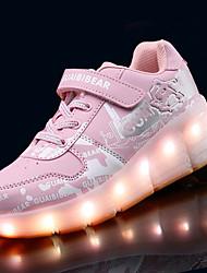 Garçon-Décontracté-Rose Gris Bleu royal-Talon Plat-Confort Light Up Chaussures-Baskets-Polyuréthane
