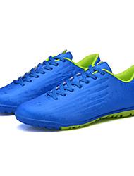 Para Meninos-Tênis-Conforto-Rasteiro-Verde / Prateado / Azul Real-Couro Ecológico-Para Esporte