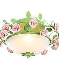 40W Flush Mount ,  Vintage Painting Feature for Designers Metal Living Room / Bedroom / Kitchen / Study Room/Office / Kids Room
