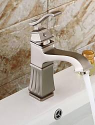 High Quality Nickel Brushed Personalized Single Handle Bathroom Sink Faucet