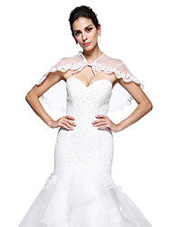 Women's Wrap Capelets Organza Wedding Beading