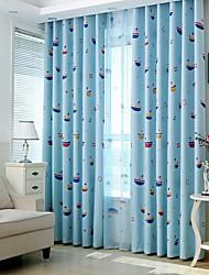 Dois Painéis Tratamento janela Rústico , Flor Quarto Poliéster Material Blackout Cortinas cortinas Decoração para casa For Janela