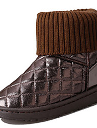 Women's Boots Fall Winter Comfort Fur Outdoor Casual Flat Heel Flower Black Brown Pink Walking