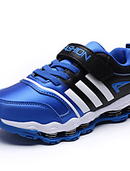 Boy's Athletic Shoes Fall Winter Comfort PU Casual Flat Heel Lace-up Blue Red