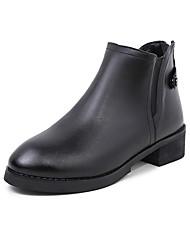 Черный Коричневый Серый-Женский-Повседневный-КожаДругое-Ботинки