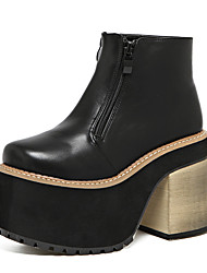 Women's Boots Winter PU Casual Black