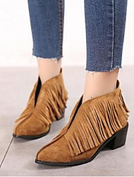 Korean version of the British retro romantic Su pointed suede boots thick with long 35 yards to 39 yards
