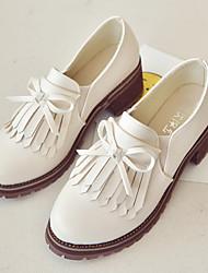Damen-Loafers & Slip-Ons-Lässig-PU-Blockabsatz-Others-Champagner / Beige