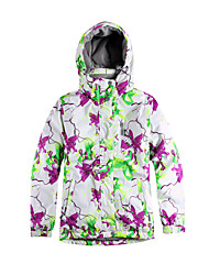 Ski Wear Ski/Snowboard Jackets Women's Winter Wear Polyester Stripe / Floral / Botanical Winter ClothingWaterproof / Breathable / Thermal