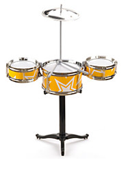 YELLOW CHILD JAZZ DRUM BABY SHELF DRUM/ Plastic/ Yellow/ Music Toy
