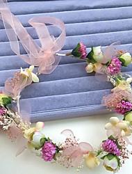 Femme Alliage / Polyester / Mousseline Casque-Mariage / Occasion spéciale Serre-tête / Fleurs / Couronnes 1 Pièce