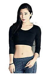 Running T-shirt Women's Short Sleeve Breathable Elastane Sports Wear Outdoor clothing Stripe S / M / L