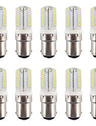 BA15D Luces LED de Doble Pin T 64 SMD 3014 200-230 lm Blanco Cálido / Blanco Fresco Impermeable AC110-220 V 10 piezas
