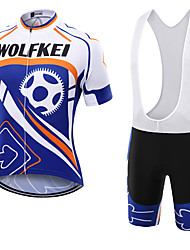WOLFKEI Summer Cycling Jersey Short Sleeves BIB Shorts Ropa Ciclismo Cycling Clothing Suits #09