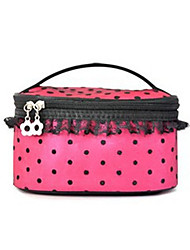 Spot Nylon Waterproof Pink Normal 1 Cosmetic Bag