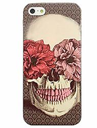 Pour Coque iPhone 7 Coques iPhone 7 Plus Coque iPhone 6 Motif Coque Coque Arrière Coque Crâne Flexible PUT pour AppleiPhone 7 Plus iPhone