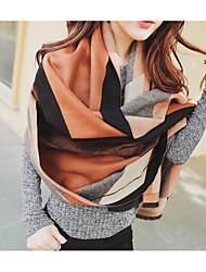 Women Faux Fur Scarf,Casual RectangleStriped