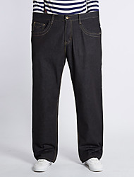 Men's Solid Black Jeans Pants,Simple Fall / Winter