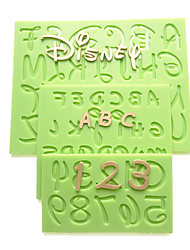2016 New Cartoon Font Capital Lowercase Letter Number Mold Kitchen Accessories Fondant Silicone Mold Cake Decorating Tools Random Color