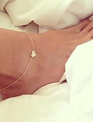 Femme Bracelet de cheville/Bracelet Alliage Amour Européen bijoux de fantaisie Forme de Coeur Bijoux Pour Mariage Quotidien