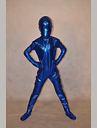Festival/Holiday Costumes Blue Solid Zentai Kid Rubber Shine Fully Covered