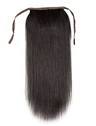 18 inch 100% remy human hair clip in high ponytail -drawstring 80g