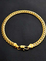 18k Gold Bracelet Chain Bracelet Gold Graduation / Engagement / Gift / Wedding / Party / Daily Jewelry Gift Gold / Silver1pc