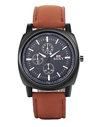 Men's Dress Watch / Fashion Watch / Wrist watch Quartz Water Resistant/Water Proof Alloy Band Silver Brand